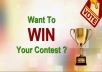Give you 40 different IP voting contest by real user