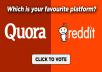 40+ Reddit real Upvotes to Your Reddit Post
