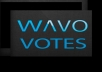 manage for you 30 wavo votes for your WAVO. ME Contest