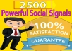 Do 2500 Social Signals from Authority Social Media sites