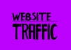 Give WEBSITE TRAFFIC World Wide