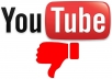 100 YOUTUBE DISLIKES   NON DROP AND REAL ORGANIC WITH LIFE TIME GUARANTEED (SUPER FAST)