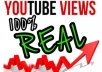 give your YouTube Video Over 4000 Unique Real Views guaranteed