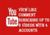 watch 6 YOUTUBE videos,like,comment,subscribe