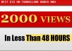 2000+ Fast and Safe YouTube views, ORDER NOW