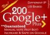 150 Google Plus votes Shares for web Site video Blog