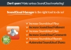 give you soundcloud manager software
