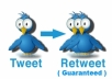 I will Post Your Website/Blog URL to my Twitter & Guarantee 200+ Retweets for