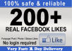 provide you 200 Facebook Fan page or 3500 post likes