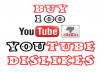 add 100 Authentic Youtube Dislikes to your Youtube Video